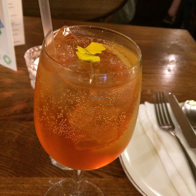 """Photo of Andina London  by <a href=""""/members/profile/NDVegan"""">NDVegan</a> <br/>Aperol spritz  <br/> June 20, 2017  - <a href='/contact/abuse/image/91722/271446'>Report</a>"""