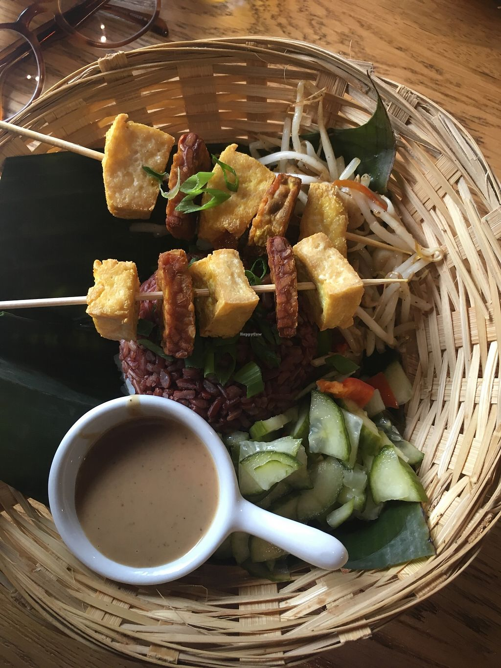 """Photo of Warung Jakarta  by <a href=""""/members/profile/LivvyCropper"""">LivvyCropper</a> <br/>Vegan satay  <br/> October 9, 2017  - <a href='/contact/abuse/image/91724/313630'>Report</a>"""