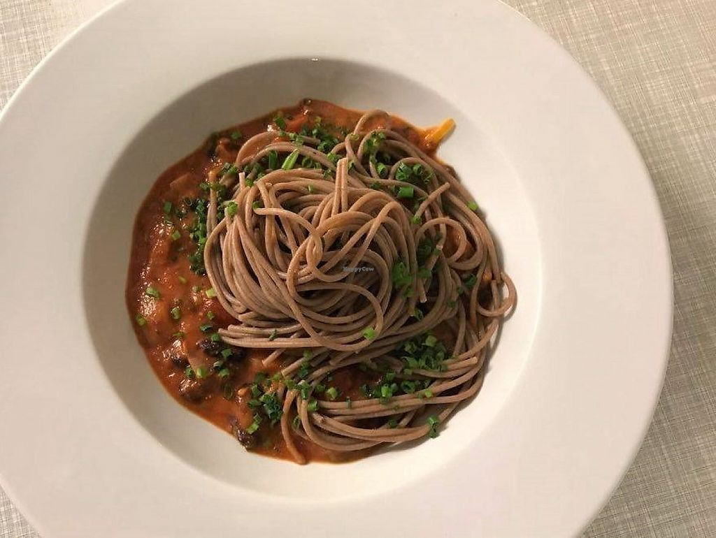 """Photo of Hotel Gasthaus and Restaurant zur Post  by <a href=""""/members/profile/_Laura_"""">_Laura_</a> <br/>Dinkel Spaghetti mit veganer Bolognese <br/> May 7, 2017  - <a href='/contact/abuse/image/91745/256594'>Report</a>"""