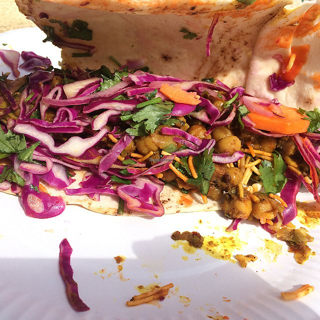 """Photo of GRUB Food Fair  by <a href=""""/members/profile/Hoggy"""">Hoggy</a> <br/>Stall – Chaat Cart – 'Chana Frankie' <br/> August 1, 2017  - <a href='/contact/abuse/image/91754/287664'>Report</a>"""