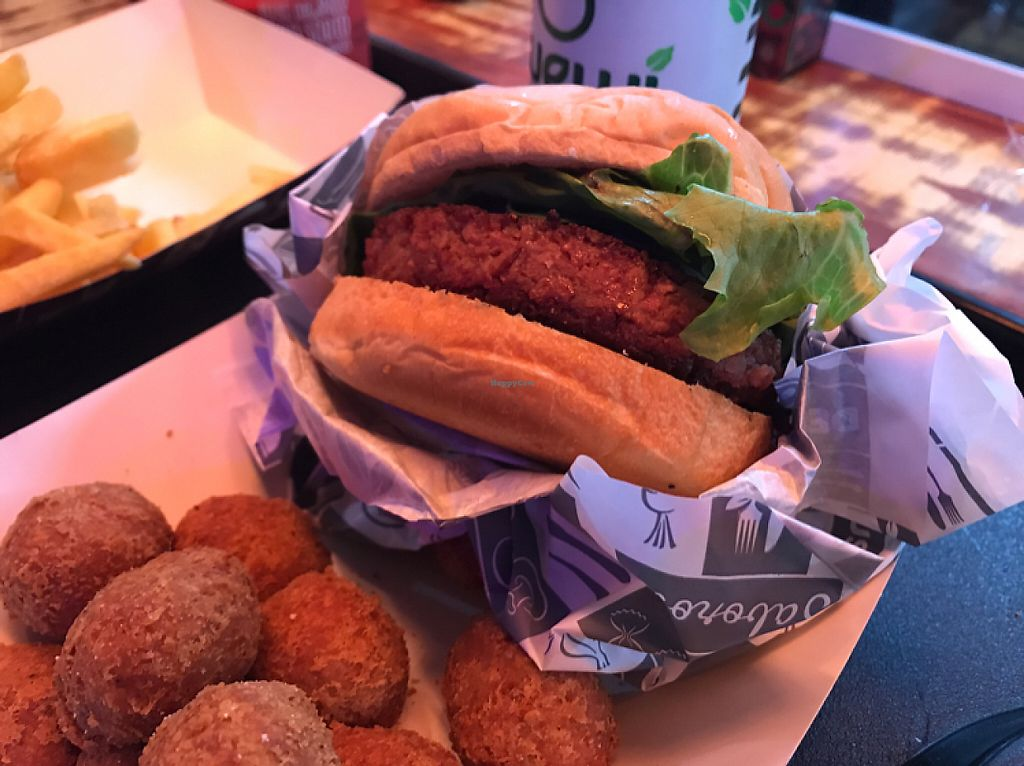 """Photo of Gran Vegan  by <a href=""""/members/profile/Paolla"""">Paolla</a> <br/>Burger and nuggets <br/> June 1, 2017  - <a href='/contact/abuse/image/91755/264659'>Report</a>"""
