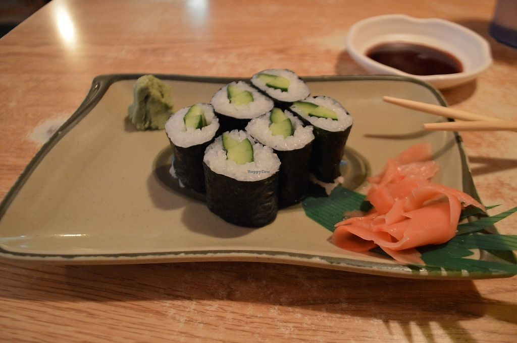 "Photo of Suehiro Cafe  by <a href=""/members/profile/anastronomy"">anastronomy</a> <br/>Cucumber sushi rolls with shredded pickled carrots, wasabi, and soy sauce  <br/> May 7, 2017  - <a href='/contact/abuse/image/91764/256836'>Report</a>"