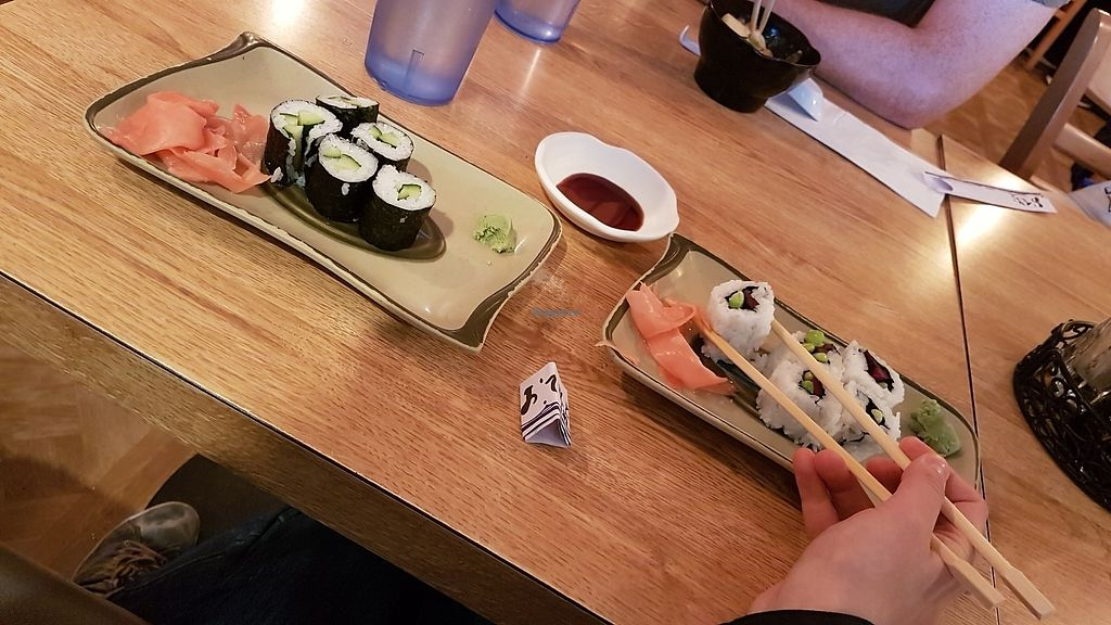 "Photo of Suehiro Cafe  by <a href=""/members/profile/AliceTheHetalian"">AliceTheHetalian</a> <br/>Kappa maki (left) and edamame rolls (right) <br/> August 13, 2017  - <a href='/contact/abuse/image/91764/292151'>Report</a>"
