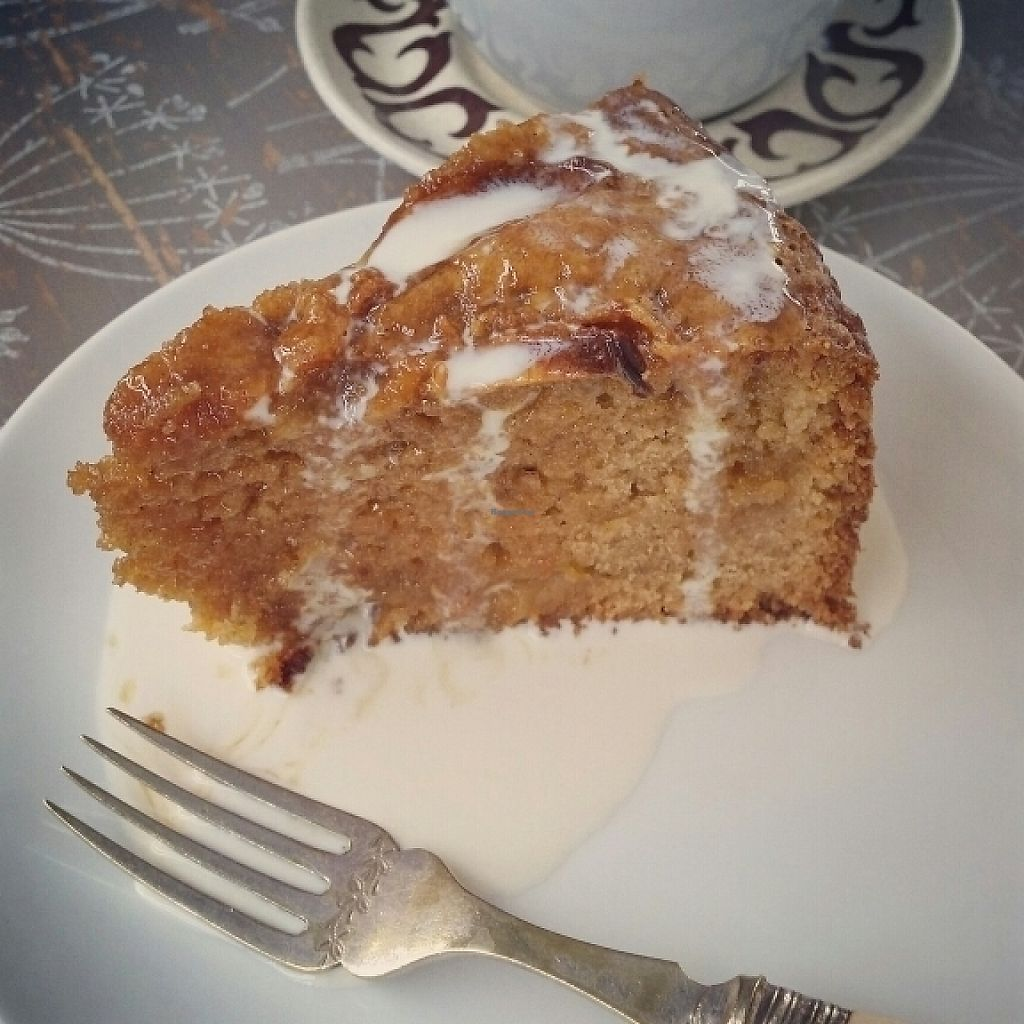 """Photo of The Railway Carriage Cafe  by <a href=""""/members/profile/ChantalW"""">ChantalW</a> <br/>Apple and toffee cake <br/> May 7, 2017  - <a href='/contact/abuse/image/91766/256765'>Report</a>"""