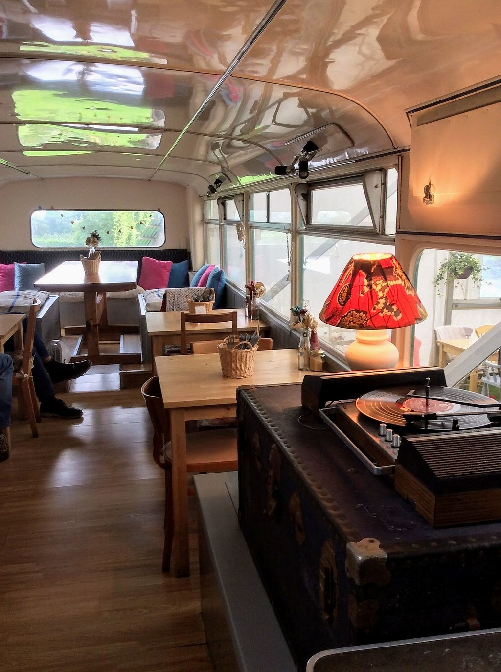 """Photo of The Railway Carriage Cafe  by <a href=""""/members/profile/The%20Smiths"""">The Smiths</a> <br/>Downstairs in the bus <br/> September 9, 2017  - <a href='/contact/abuse/image/91766/302646'>Report</a>"""