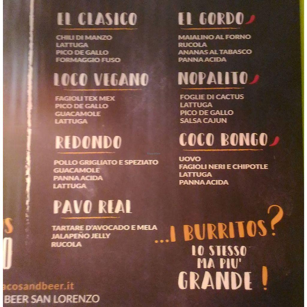 "Photo of Tacos & Beer  by <a href=""/members/profile/Dafna-bar-el"">Dafna-bar-el</a> <br/>menu <br/> May 7, 2017  - <a href='/contact/abuse/image/91774/256856'>Report</a>"
