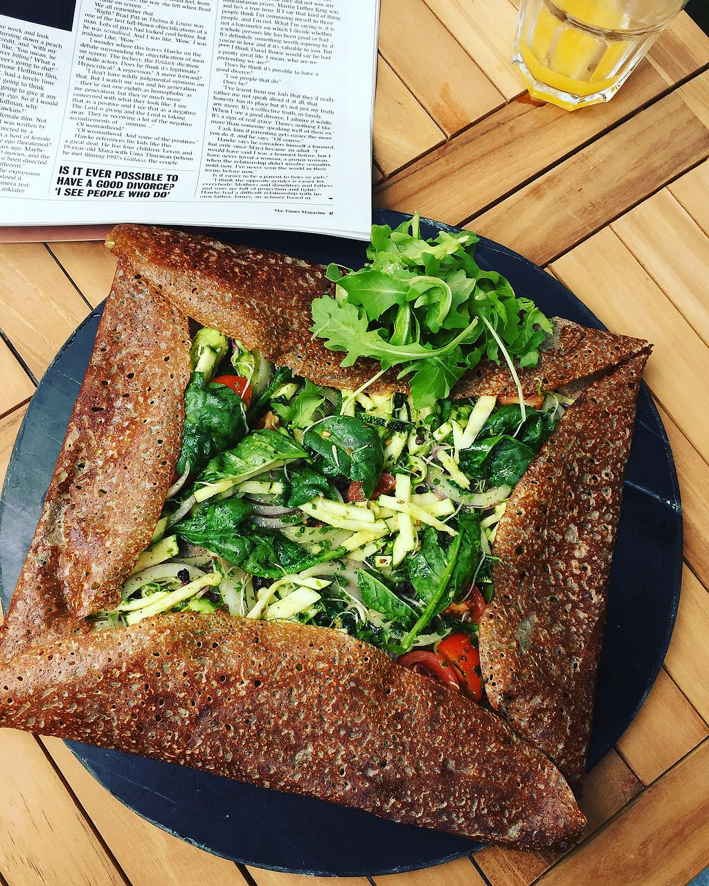 """Photo of Crepes a la carte  by <a href=""""/members/profile/EvaLeBadezet"""">EvaLeBadezet</a> <br/>plant based galette and wild garlic sauce  <br/> August 21, 2017  - <a href='/contact/abuse/image/91777/295121'>Report</a>"""