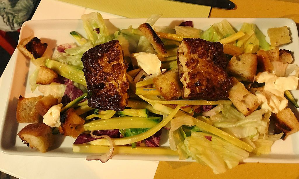 """Photo of Vero Gastrobar  by <a href=""""/members/profile/EdenGasson"""">EdenGasson</a> <br/>salad with crispy tofu  <br/> September 6, 2017  - <a href='/contact/abuse/image/91778/301589'>Report</a>"""