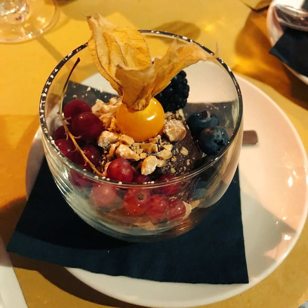 """Photo of Vero Gastrobar  by <a href=""""/members/profile/EdenGasson"""">EdenGasson</a> <br/>vegan avocado chocolate mousse  <br/> September 6, 2017  - <a href='/contact/abuse/image/91778/301590'>Report</a>"""