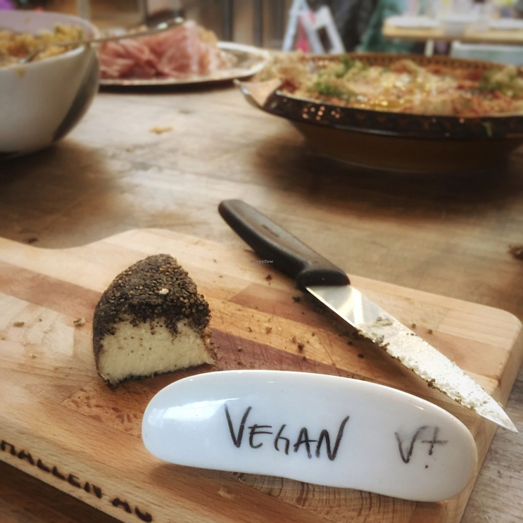 """Photo of Zmorgeland - Markthalle  by <a href=""""/members/profile/Televidiot"""">Televidiot</a> <br/>vegan cheese - cashew nut based w/ black pepper coating <br/> May 7, 2017  - <a href='/contact/abuse/image/91788/256818'>Report</a>"""
