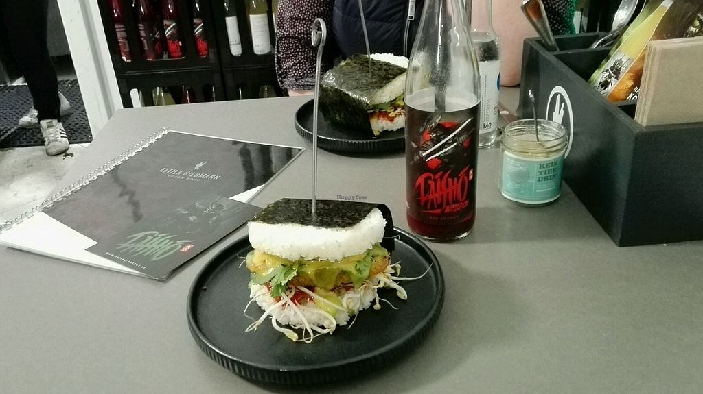 """Photo of Attila Hildmann Vegan Food  by <a href=""""/members/profile/chick_love_peas"""">chick_love_peas</a> <br/>Sushi burger  <br/> November 11, 2017  - <a href='/contact/abuse/image/91807/324357'>Report</a>"""