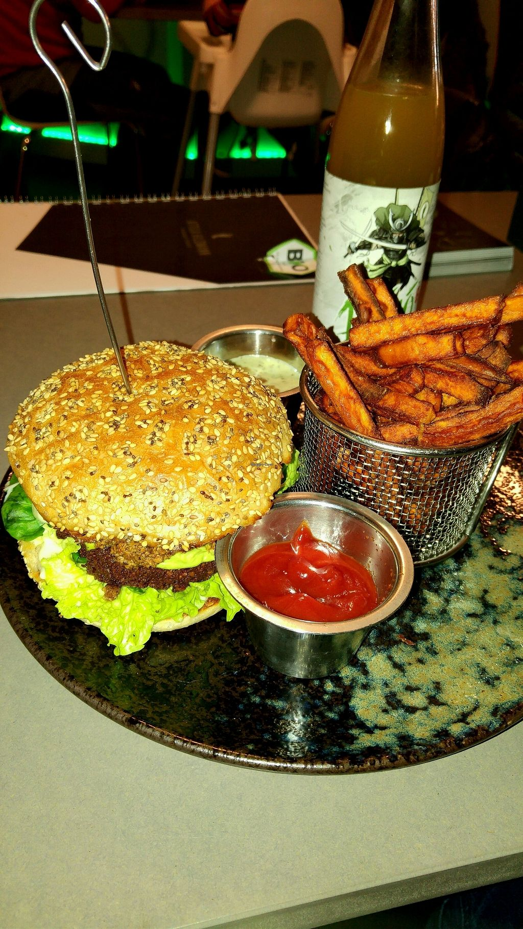 "Photo of Attila Hildmann Vegan Food  by <a href=""/members/profile/OmanFK"">OmanFK</a> <br/>(Big) chilli burger menü <br/> November 28, 2017  - <a href='/contact/abuse/image/91807/330021'>Report</a>"