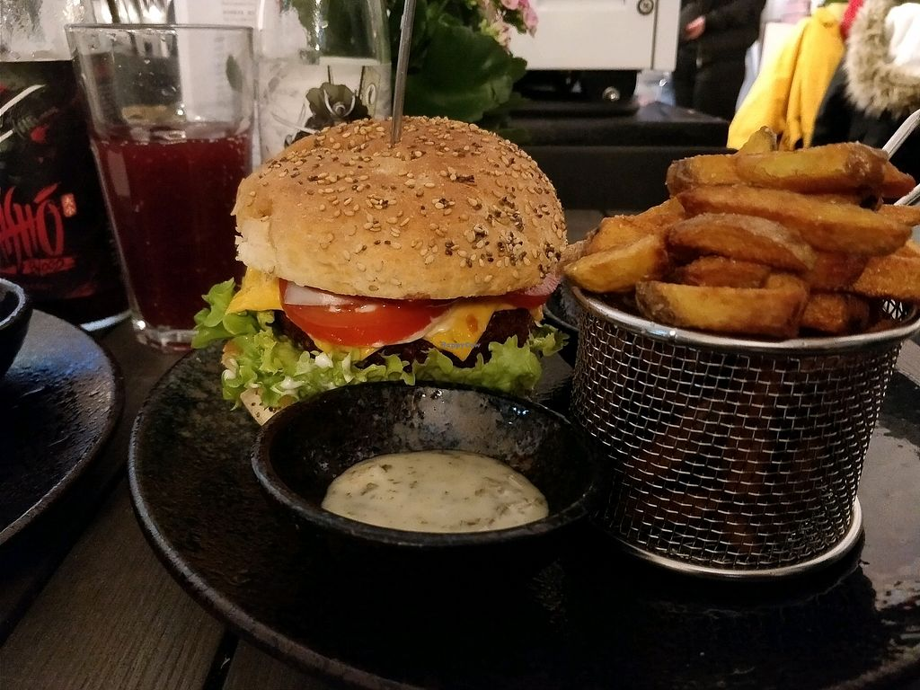 """Photo of Attila Hildmann Vegan Food  by <a href=""""/members/profile/Chrisarnold"""">Chrisarnold</a> <br/>cheeseburger menu <br/> January 28, 2018  - <a href='/contact/abuse/image/91807/351979'>Report</a>"""