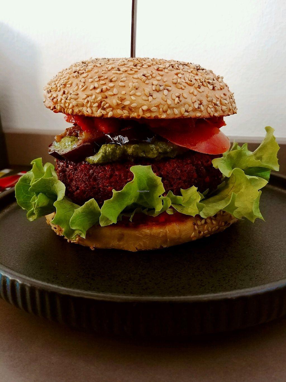 """Photo of Attila Hildmann Vegan Food  by <a href=""""/members/profile/Evyatar"""">Evyatar</a> <br/>Italian Stallion Burger <br/> March 3, 2018  - <a href='/contact/abuse/image/91807/366280'>Report</a>"""