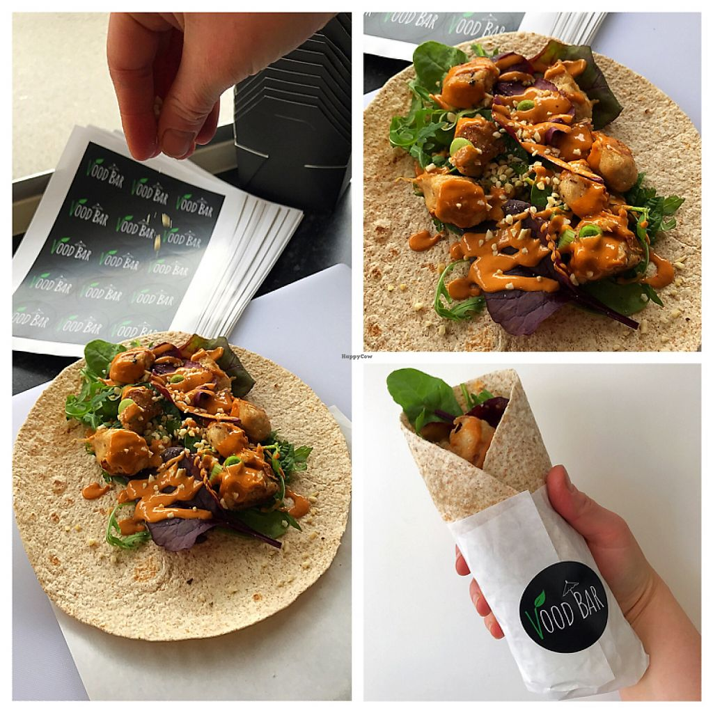 """Photo of Vood Bar  by <a href=""""/members/profile/DanielleClancy"""">DanielleClancy</a> <br/>'Chicken' Satay Wrap <br/> May 18, 2017  - <a href='/contact/abuse/image/91820/259836'>Report</a>"""