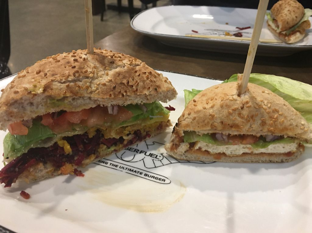 "Photo of BurgerFuel - BNZ Center  by <a href=""/members/profile/AimeeS"">AimeeS</a> <br/>Combustion Tofu and V-Dub Vege burgers <br/> May 9, 2017  - <a href='/contact/abuse/image/91828/257319'>Report</a>"