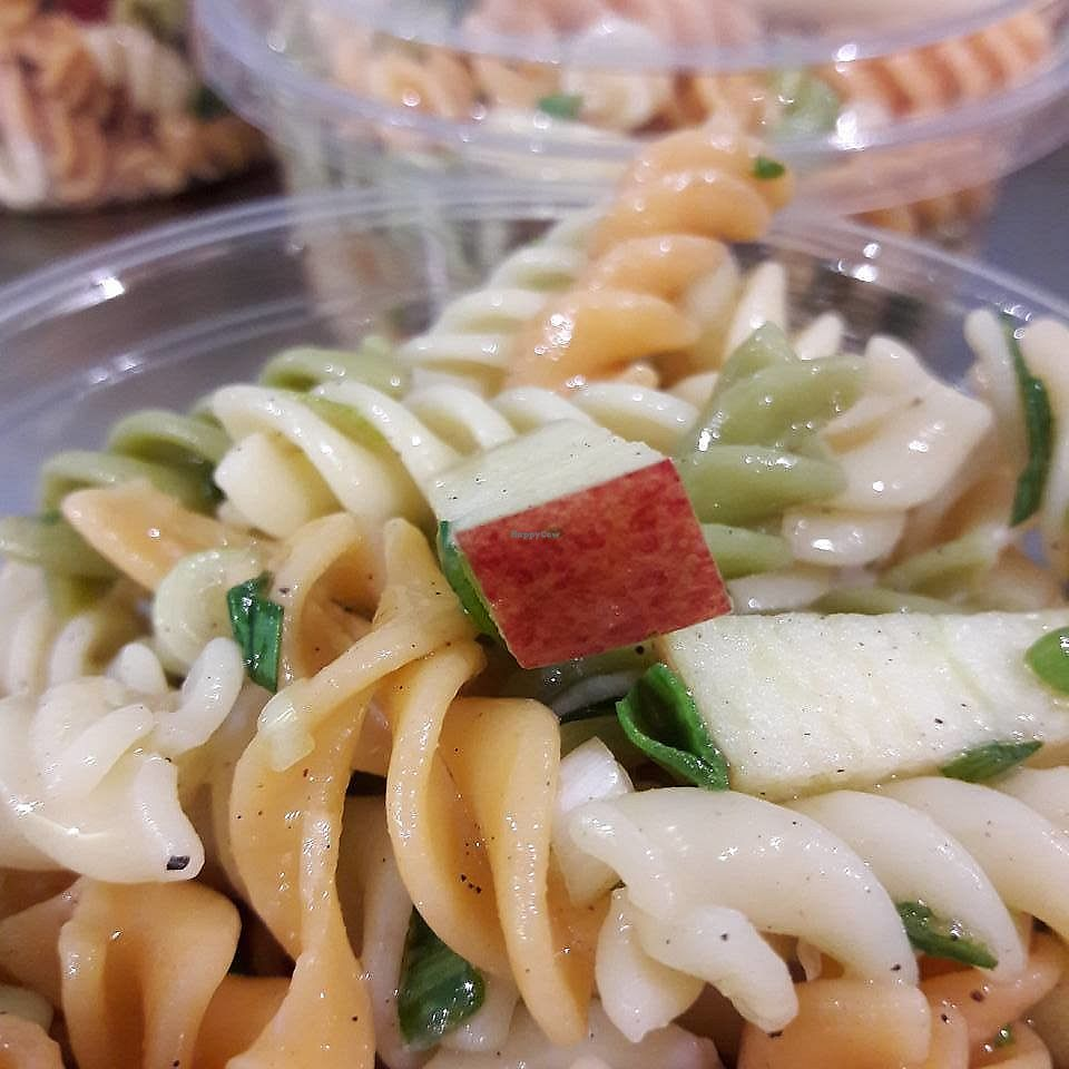 """Photo of Le Triple V  by <a href=""""/members/profile/wushu"""">wushu</a> <br/>Pasta, garlic and apple salad :) <br/> June 9, 2017  - <a href='/contact/abuse/image/91894/267230'>Report</a>"""