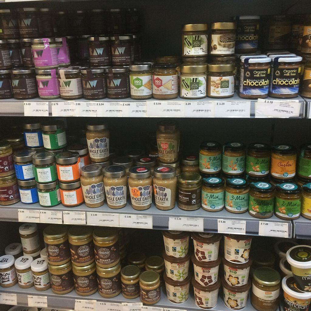 """Photo of LIV Organic & Natural Food Market  by <a href=""""/members/profile/Hoggy"""">Hoggy</a> <br/>Selection of nut butters <br/> September 20, 2017  - <a href='/contact/abuse/image/91895/306441'>Report</a>"""