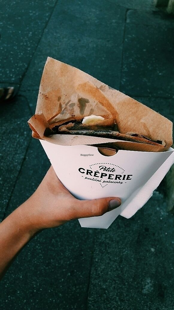 """Photo of Petite Creperie - Poulicne Palacinky  by <a href=""""/members/profile/victoriazwr"""">victoriazwr</a> <br/>banana, """"nutella"""" (dark chocolate-nougat spread), coconut shreds <br/> July 6, 2017  - <a href='/contact/abuse/image/91899/277257'>Report</a>"""