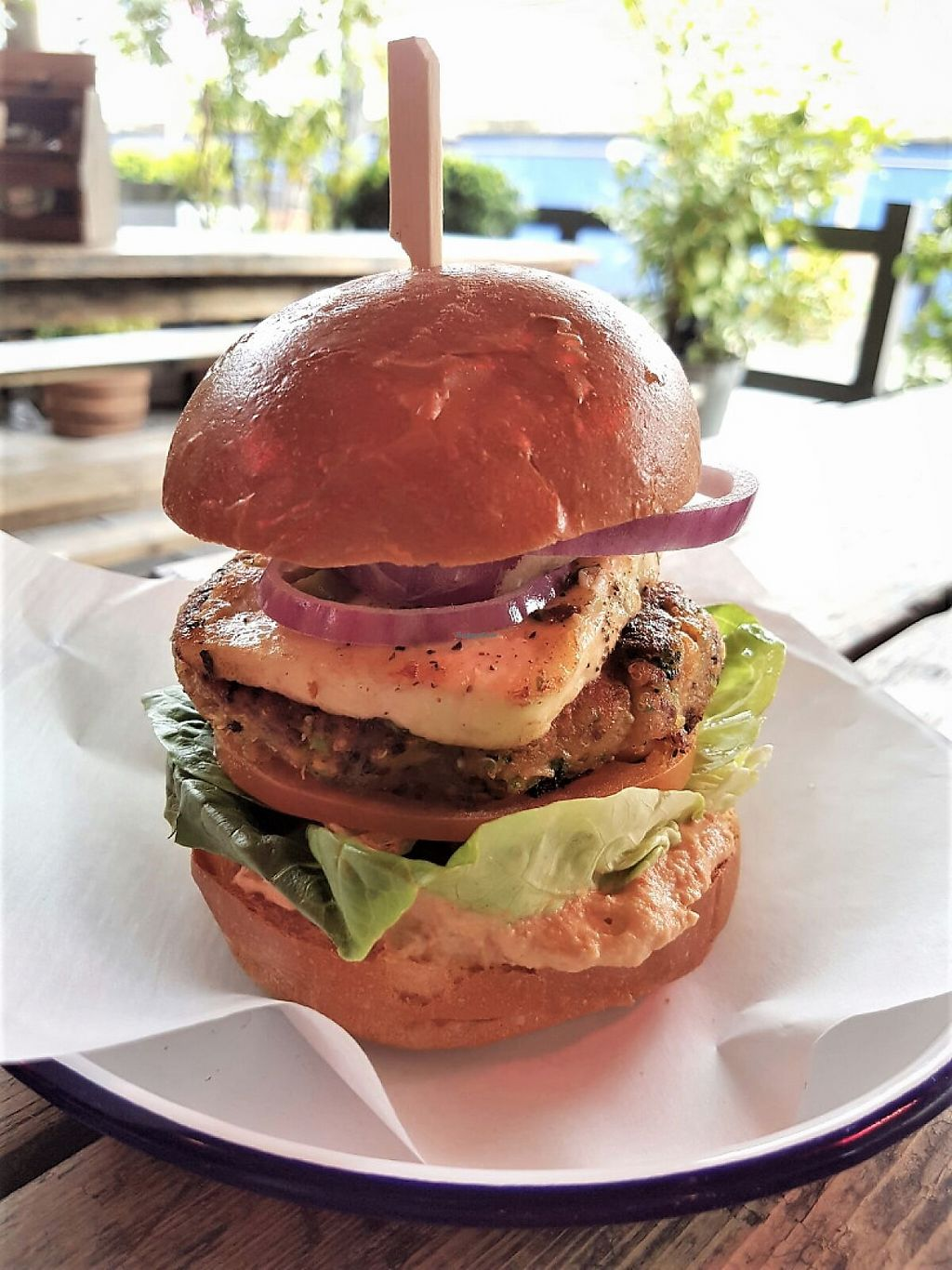 "Photo of Jack's Bar  by <a href=""/members/profile/JacksBar"">JacksBar</a> <br/>Quinoa Burger with broccoli, smashed chickpeas, Jack's smoked tomato houmous, in-house vegan halloumi, lettuce, olives and red onion <br/> May 11, 2017  - <a href='/contact/abuse/image/91904/257801'>Report</a>"