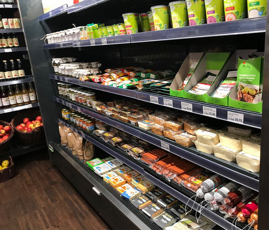 """Photo of Naturalny Sklepik  by <a href=""""/members/profile/Rowse"""">Rowse</a> <br/>Vegan area - tofus & sausages; vegan cheese;  vegan yoghurt; vegan bigos etc <br/> January 18, 2018  - <a href='/contact/abuse/image/9190/348041'>Report</a>"""