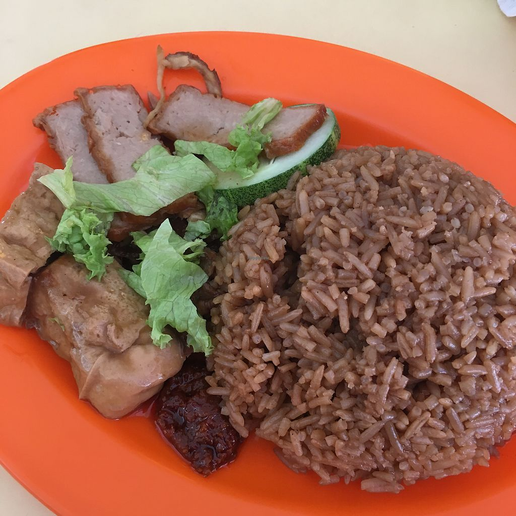 """Photo of Simply Vegetarian - Food Stall  by <a href=""""/members/profile/Simrk"""">Simrk</a> <br/>Duck Rice <br/> February 10, 2018  - <a href='/contact/abuse/image/91939/357231'>Report</a>"""
