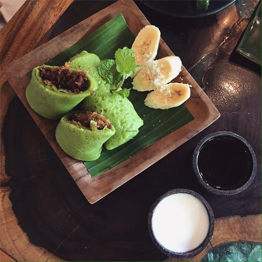 """Photo of Atman Nourish Kafe  by <a href=""""/members/profile/Bdizzle"""">Bdizzle</a> <br/>pandan pancakes with coconut  <br/> May 24, 2017  - <a href='/contact/abuse/image/91940/261995'>Report</a>"""