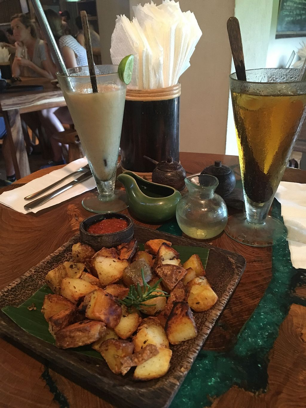 """Photo of Atman Nourish Kafe  by <a href=""""/members/profile/jojoinbrighton"""">jojoinbrighton</a> <br/>Rosemary potatoes <br/> August 15, 2017  - <a href='/contact/abuse/image/91940/292772'>Report</a>"""