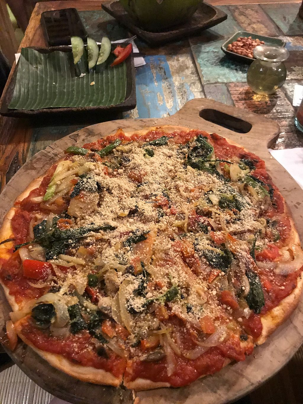 """Photo of Atman Nourish Kafe  by <a href=""""/members/profile/LolaNachtigall"""">LolaNachtigall</a> <br/>best vegan pizza ever <br/> November 7, 2017  - <a href='/contact/abuse/image/91940/322926'>Report</a>"""