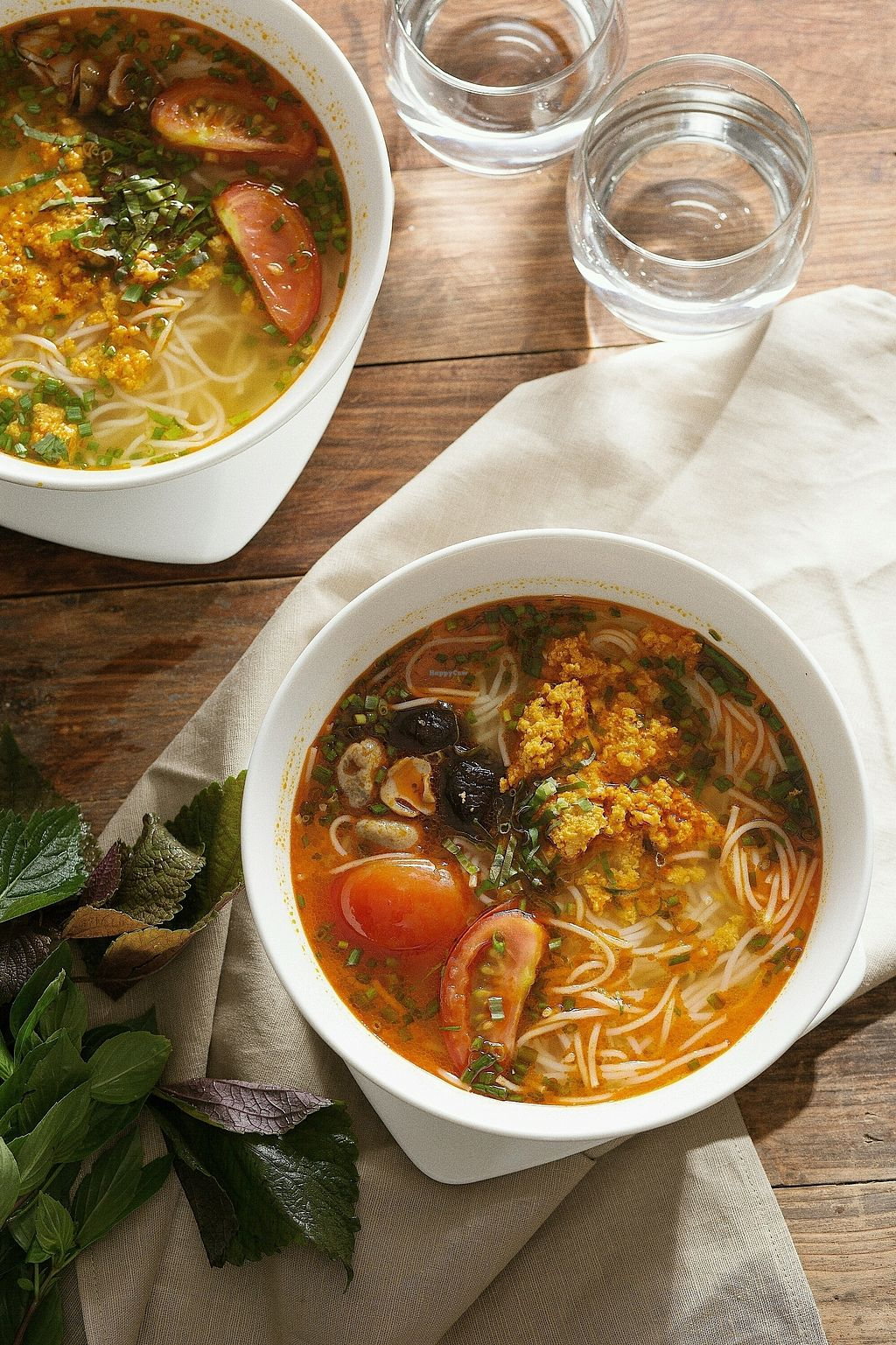 """Photo of Vegan Kitchen  by <a href=""""/members/profile/KhanhAnitya"""">KhanhAnitya</a> <br/>Bún riêu- Rice noodles soup with vegan crab meat <br/> November 9, 2017  - <a href='/contact/abuse/image/91953/323534'>Report</a>"""