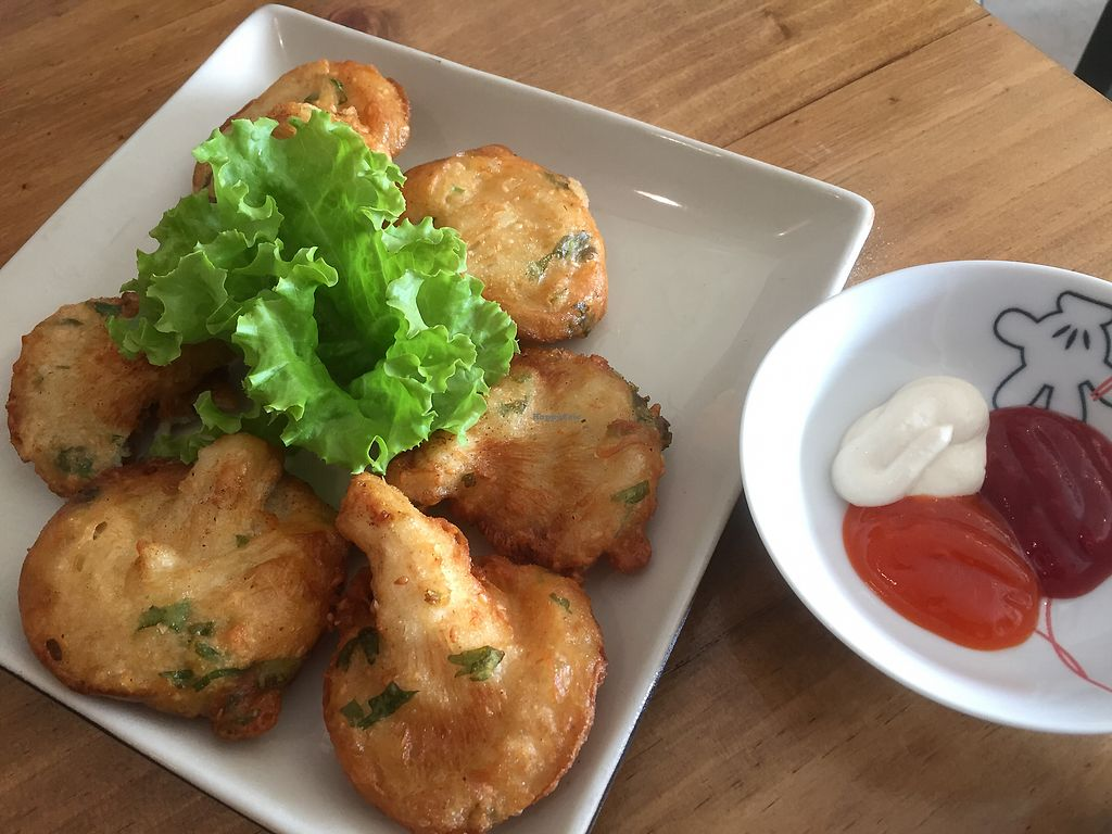 """Photo of Vegan Kitchen  by <a href=""""/members/profile/SusanRoberts"""">SusanRoberts</a> <br/>Deep fried mushroom with sesame <br/> December 31, 2017  - <a href='/contact/abuse/image/91953/341234'>Report</a>"""