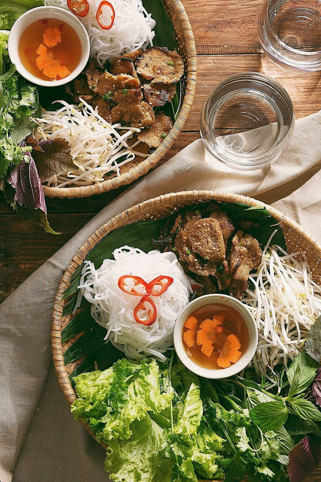 """Photo of Vegan Kitchen  by <a href=""""/members/profile/KhanhAnitya"""">KhanhAnitya</a> <br/>Vermicelli with vegan grilled meat, fresh vegetables and herbs <br/> January 1, 2018  - <a href='/contact/abuse/image/91953/341579'>Report</a>"""