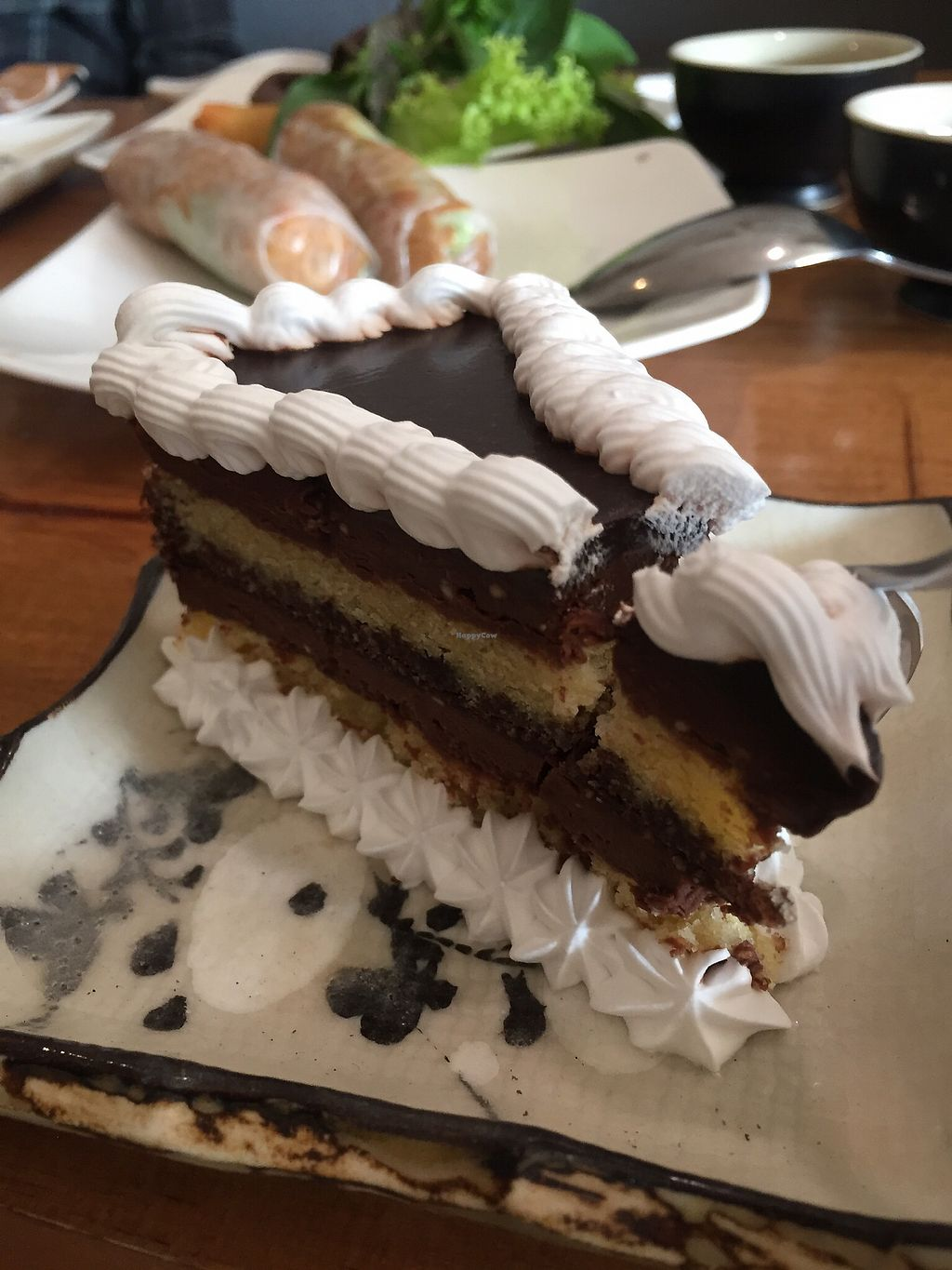 """Photo of Vegan Kitchen  by <a href=""""/members/profile/TracyL%C3%AA"""">TracyLê</a> <br/>Vegan Opera cake <br/> January 6, 2018  - <a href='/contact/abuse/image/91953/343648'>Report</a>"""