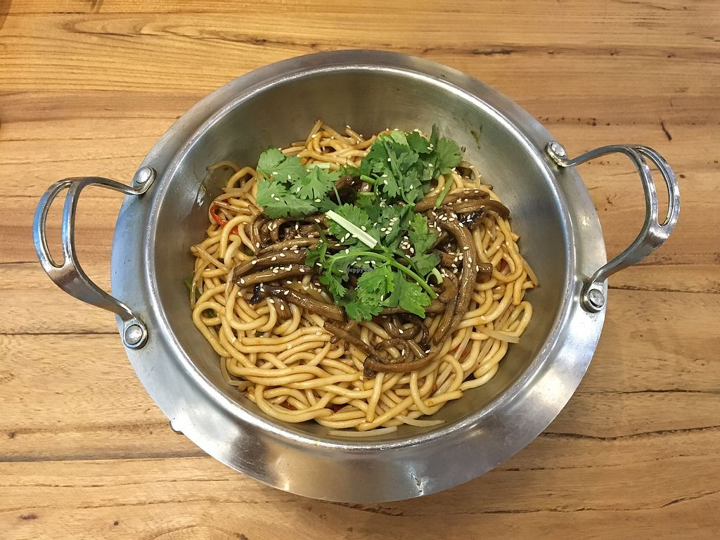 """Photo of Humane Vegetarian  by <a href=""""/members/profile/Tianci"""">Tianci</a> <br/>Dry Pot QQ Noodles <br/> September 10, 2017  - <a href='/contact/abuse/image/91955/303083'>Report</a>"""