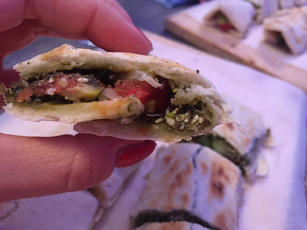 "Photo of Smsom  by <a href=""/members/profile/gotashima"">gotashima</a> <br/>Zataar and veggie wrap <br/> October 3, 2017  - <a href='/contact/abuse/image/91958/311487'>Report</a>"