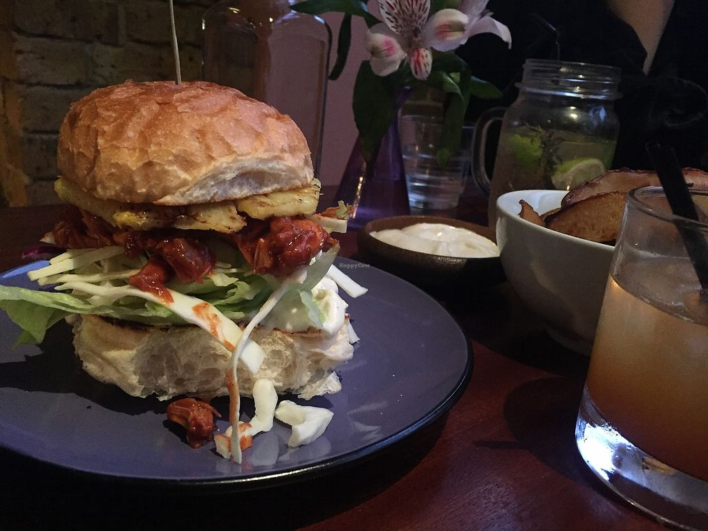 """Photo of Haunt  by <a href=""""/members/profile/alice28"""">alice28</a> <br/>Jackfruit + pineapple burger <br/> March 1, 2018  - <a href='/contact/abuse/image/91962/365332'>Report</a>"""