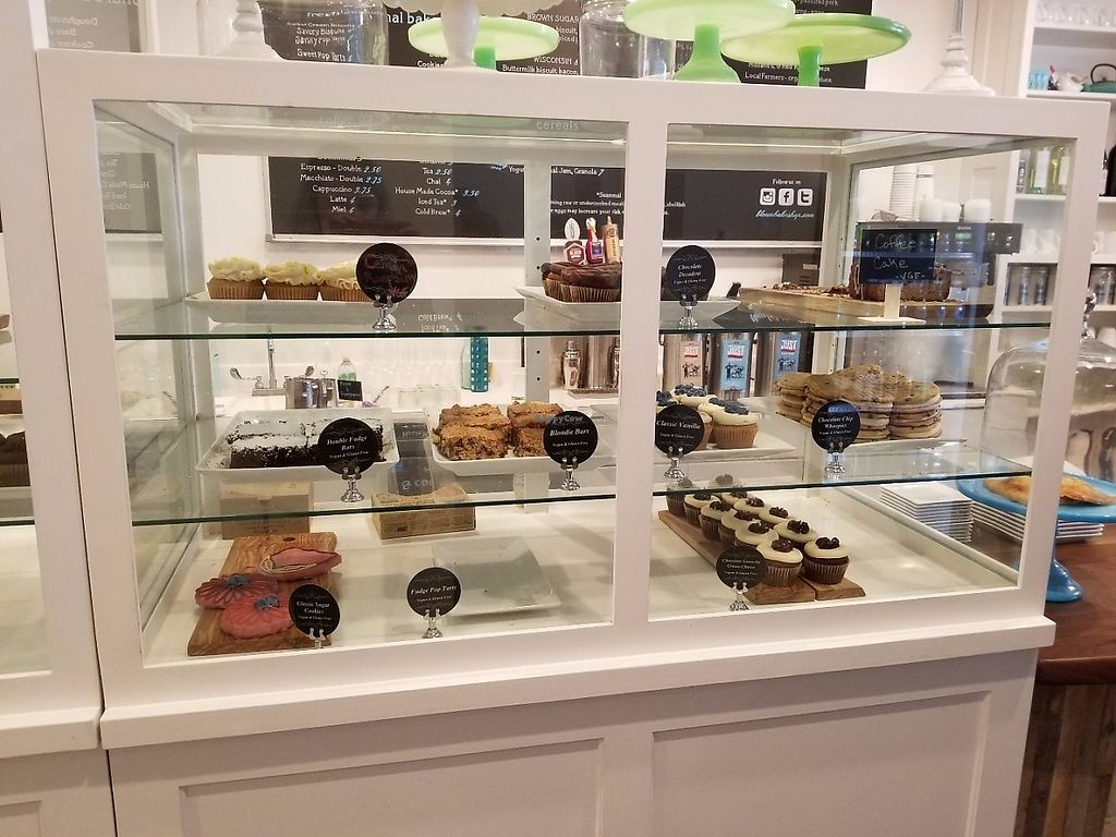 """Photo of Bloom Bake Shop  by <a href=""""/members/profile/Gubadub"""">Gubadub</a> <br/>Vegan & gluten-free section of the bakery case <br/> May 15, 2017  - <a href='/contact/abuse/image/91975/259100'>Report</a>"""