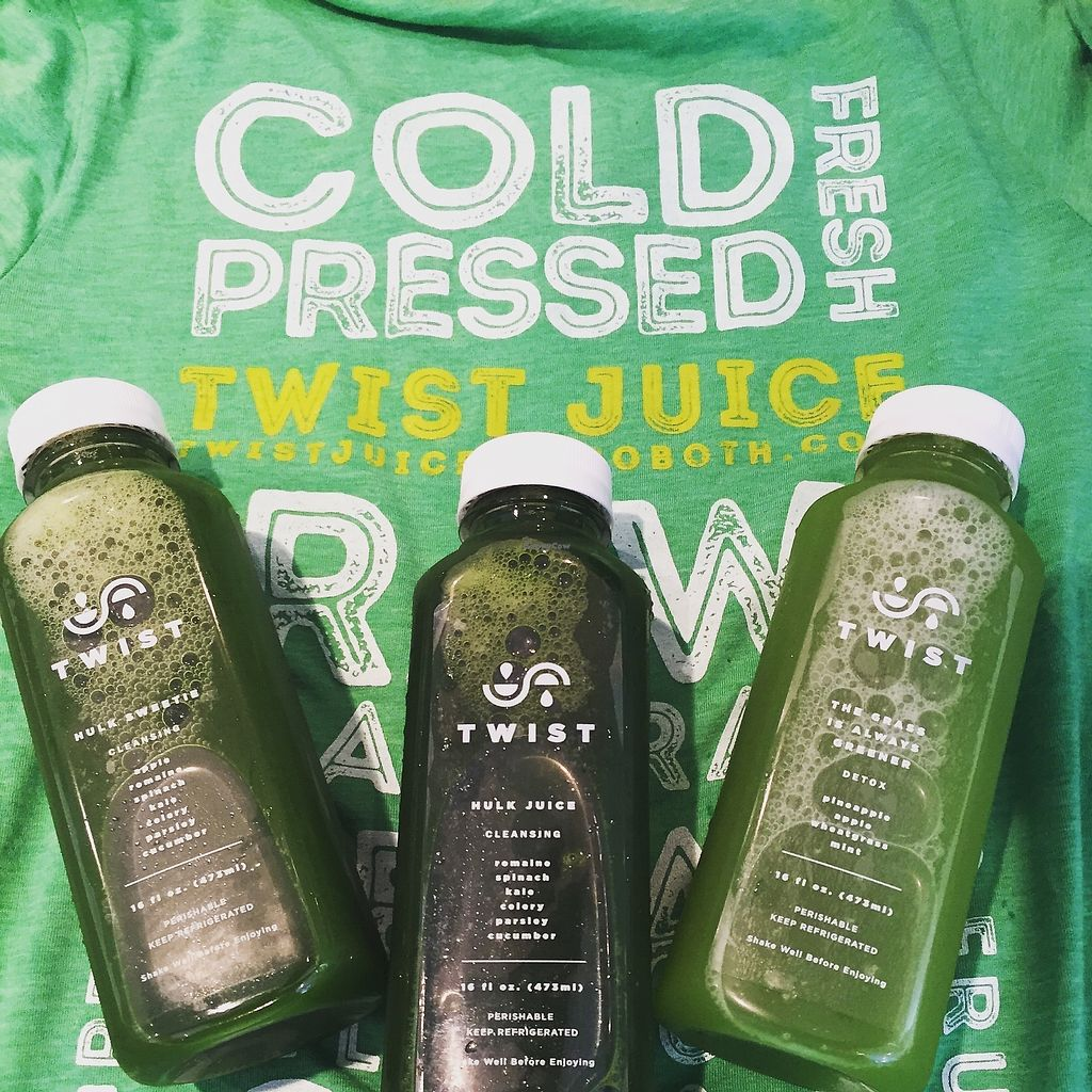 """Photo of Twist Juice Bar  by <a href=""""/members/profile/JulieHarrigan"""">JulieHarrigan</a> <br/>cold pressed juice <br/> July 26, 2017  - <a href='/contact/abuse/image/91993/285158'>Report</a>"""