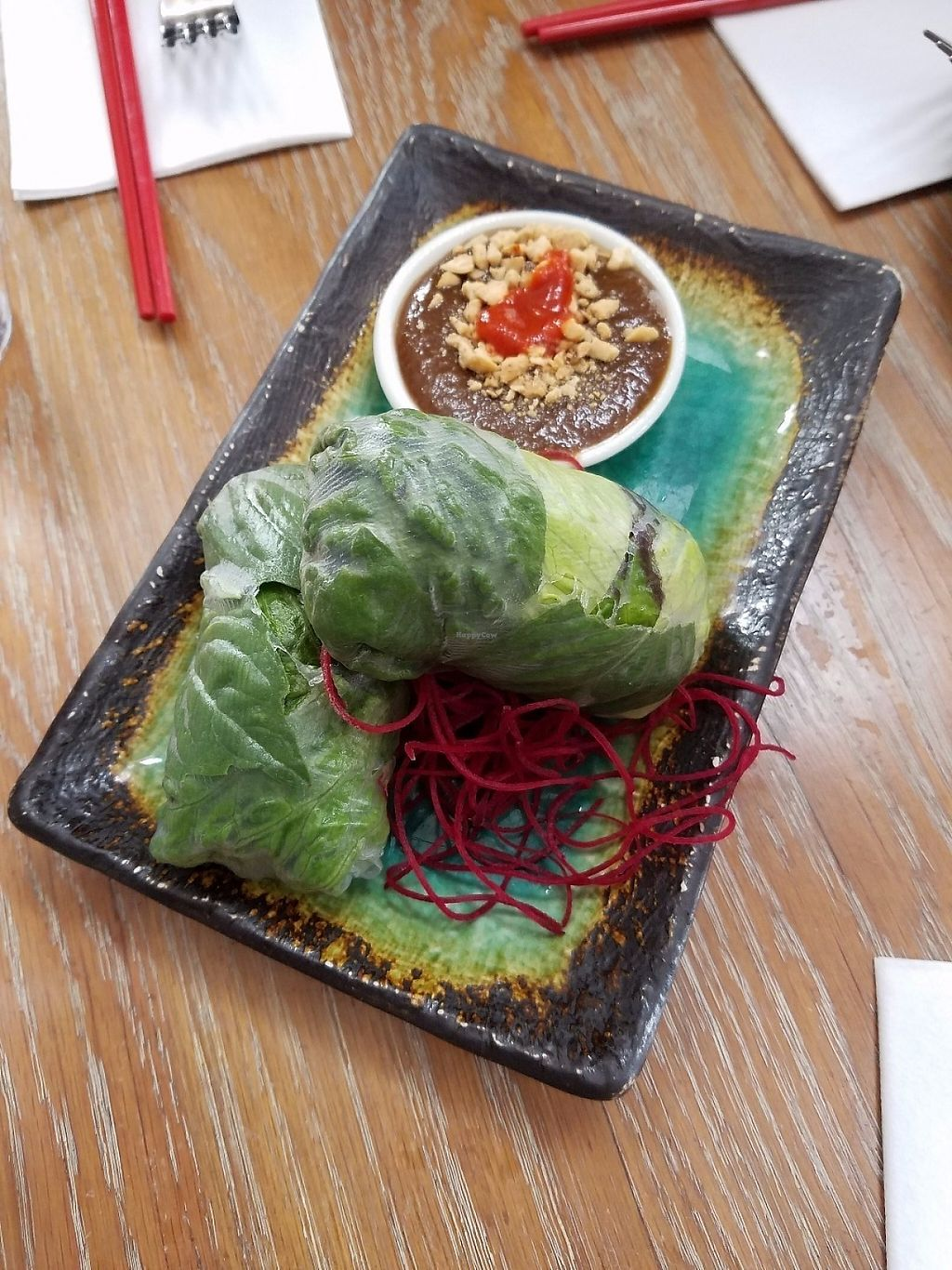 """Photo of DC Noodles  by <a href=""""/members/profile/MerryRose"""">MerryRose</a> <br/>The veggie spring rolls with Thai peanut sauce <br/> May 11, 2017  - <a href='/contact/abuse/image/92005/257889'>Report</a>"""