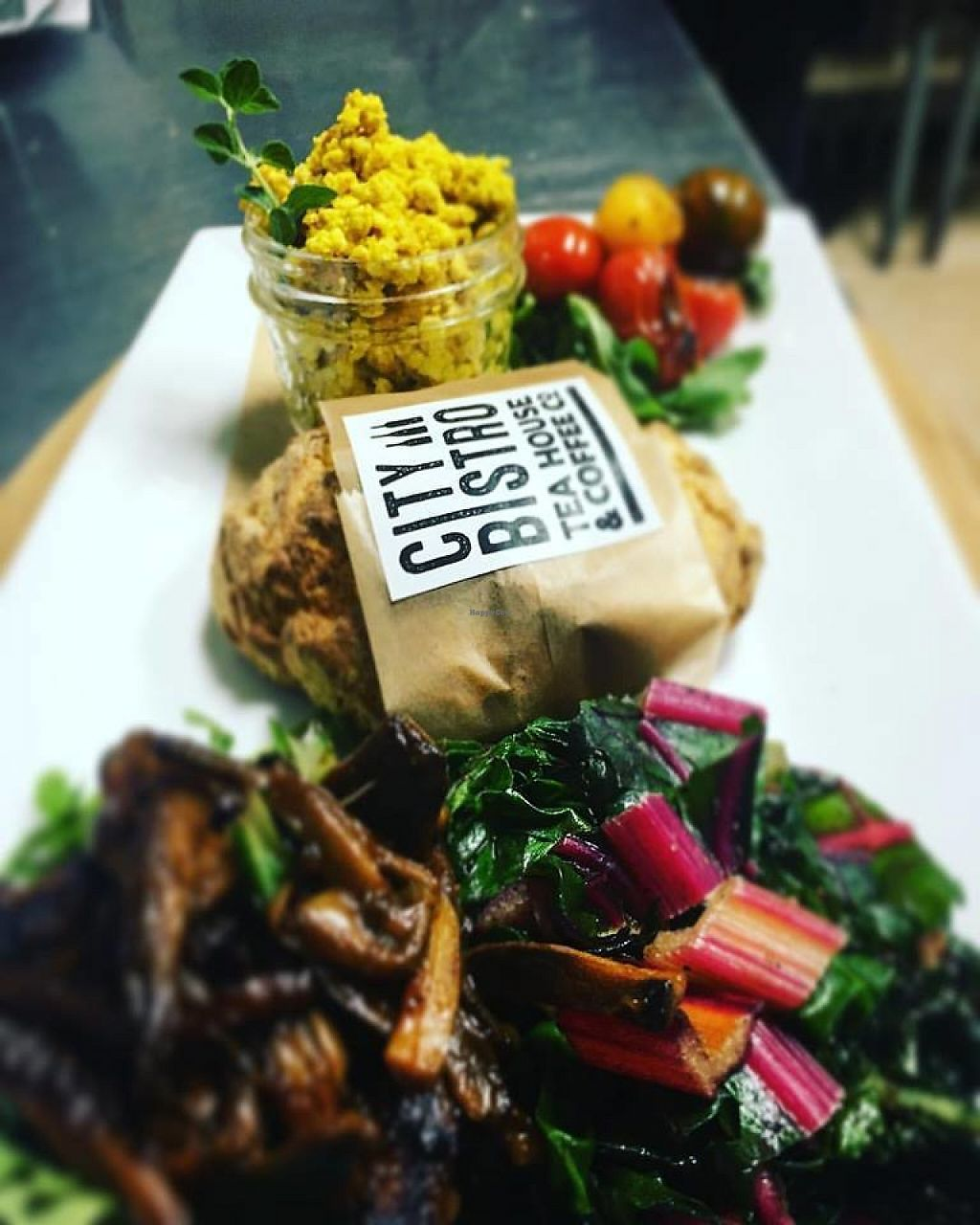 "Photo of City Bistro Tea House & Coffee Co.  by <a href=""/members/profile/community5"">community5</a> <br/>Vegan breakfast platter <br/> May 12, 2017  - <a href='/contact/abuse/image/92006/258045'>Report</a>"