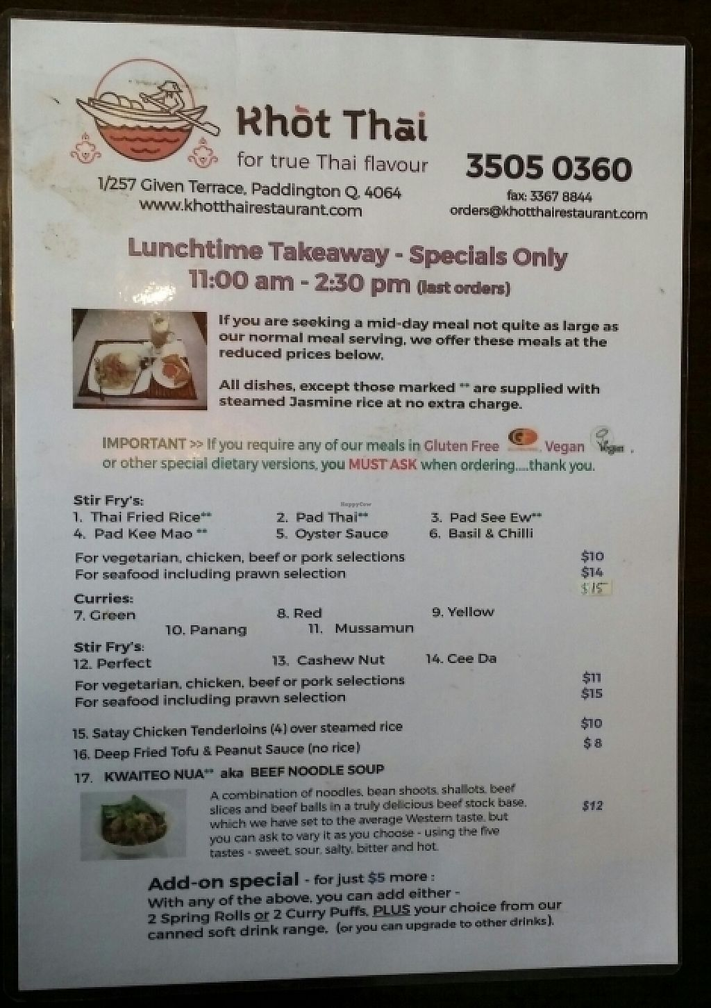 "Photo of Khot Thai  by <a href=""/members/profile/Mike%20Munsie"">Mike Munsie</a> <br/>lunch menu <br/> May 13, 2017  - <a href='/contact/abuse/image/92010/258313'>Report</a>"