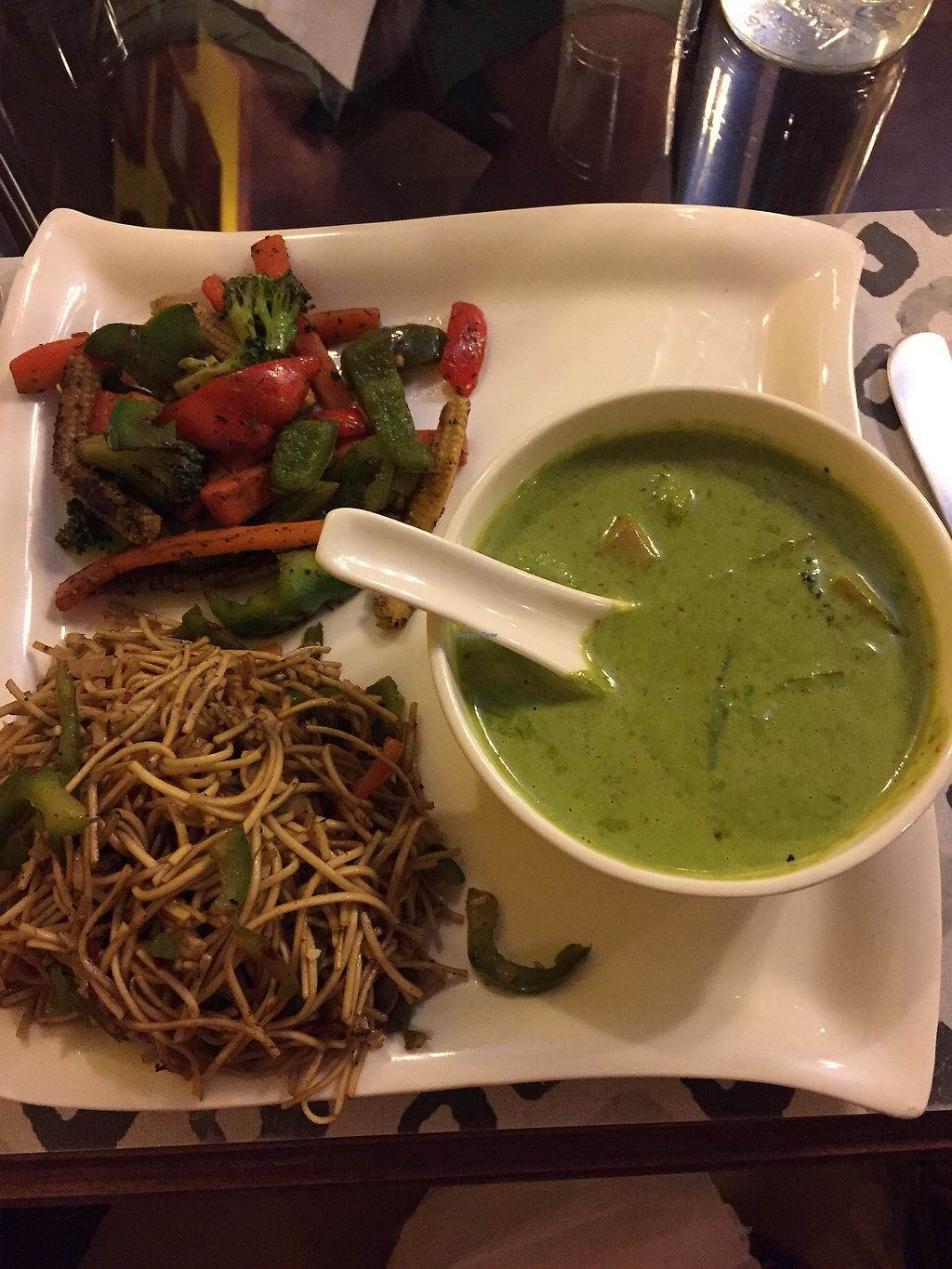 "Photo of Ashvita Nirvana  by <a href=""/members/profile/ChristianeR"">ChristianeR</a> <br/>Roasted vegetable Salad / green Thai curry with Thai fried vegetable noodles <br/> November 25, 2017  - <a href='/contact/abuse/image/92013/329022'>Report</a>"