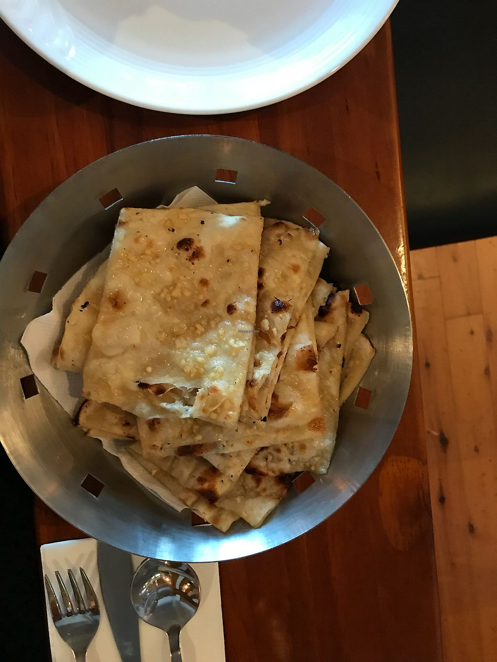 "Photo of Steam  by <a href=""/members/profile/SimoneC"">SimoneC</a> <br/>2 x Garlic Naan - $4 each portion <br/> February 24, 2018  - <a href='/contact/abuse/image/92018/363044'>Report</a>"