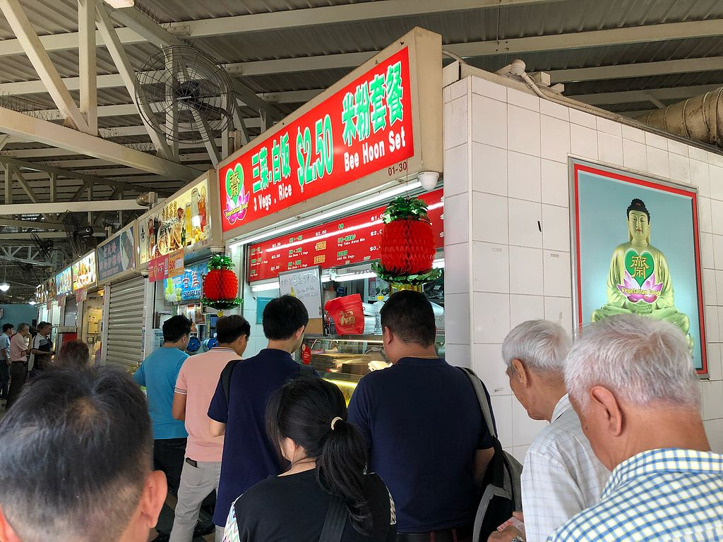 "Photo of 3 Veg Rice - Ang Mo Kio  by <a href=""/members/profile/CherylQuincy"">CherylQuincy</a> <br/>Long queue  <br/> April 16, 2018  - <a href='/contact/abuse/image/92061/386710'>Report</a>"