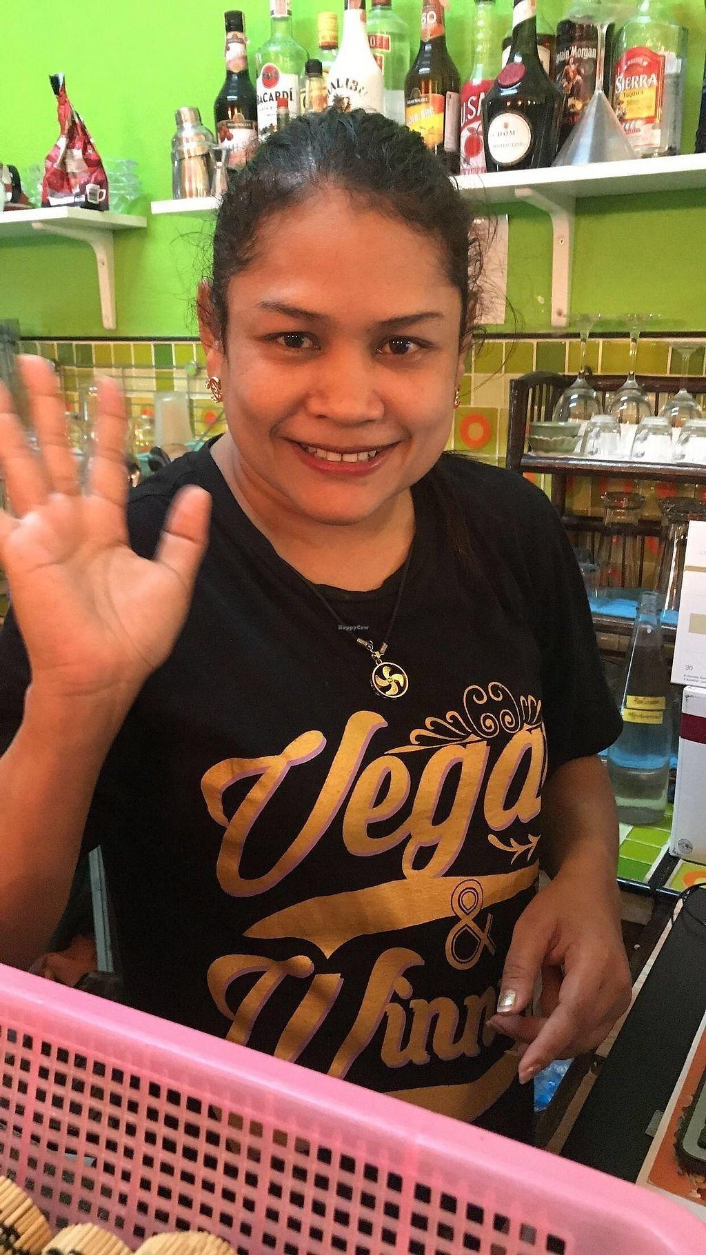 "Photo of Vegan Heaven 2  by <a href=""/members/profile/benmneb"">benmneb</a> <br/>the friendly manager! rocking one of the shirts they sell in the store. this one reads, ""vegan and winning"". love this lady :) <br/> September 16, 2017  - <a href='/contact/abuse/image/92072/304996'>Report</a>"