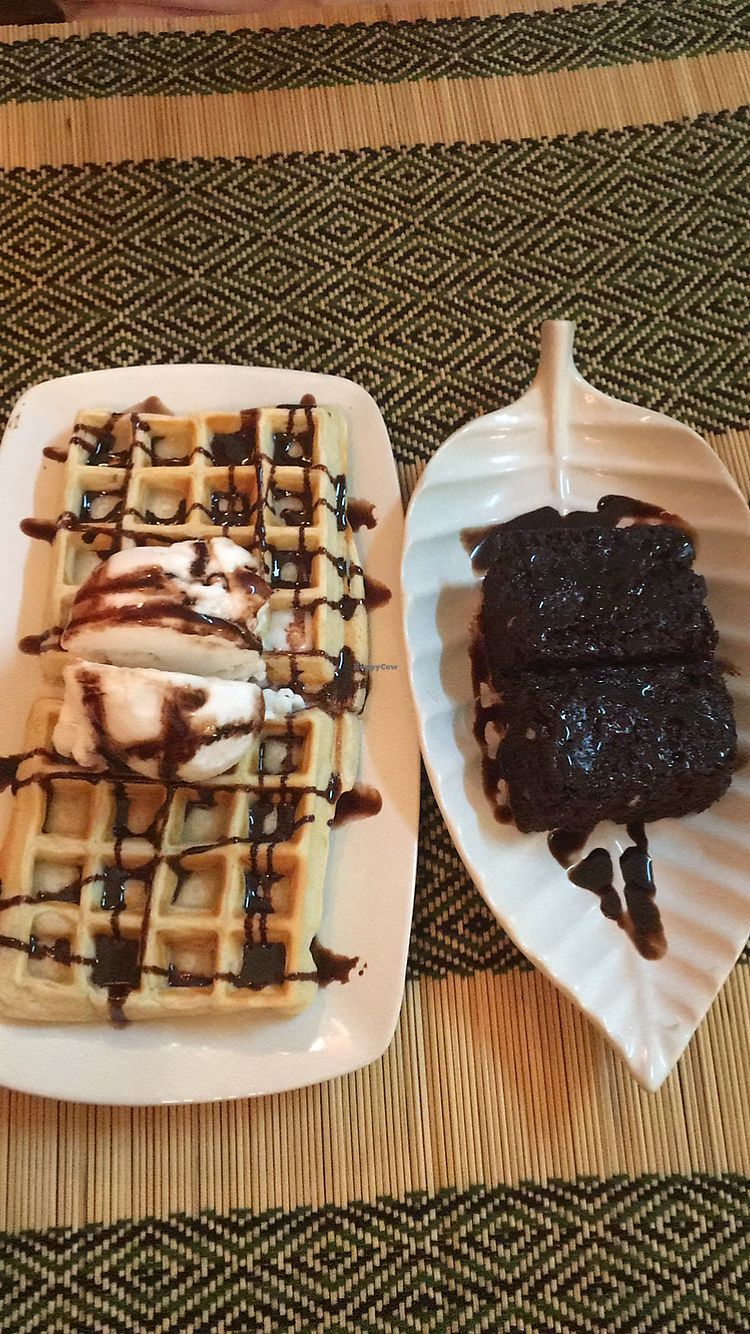 "Photo of Vegan Heaven 2  by <a href=""/members/profile/katiechiamia"">katiechiamia</a> <br/>Waffles and chocolate brownie  <br/> November 1, 2017  - <a href='/contact/abuse/image/92072/320810'>Report</a>"