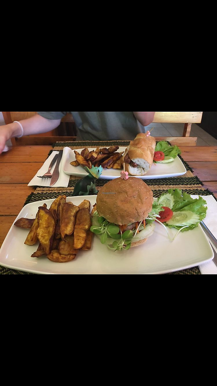 "Photo of Vegan Heaven 2  by <a href=""/members/profile/katiechiamia"">katiechiamia</a> <br/>Burger and hot dog <br/> November 1, 2017  - <a href='/contact/abuse/image/92072/320812'>Report</a>"