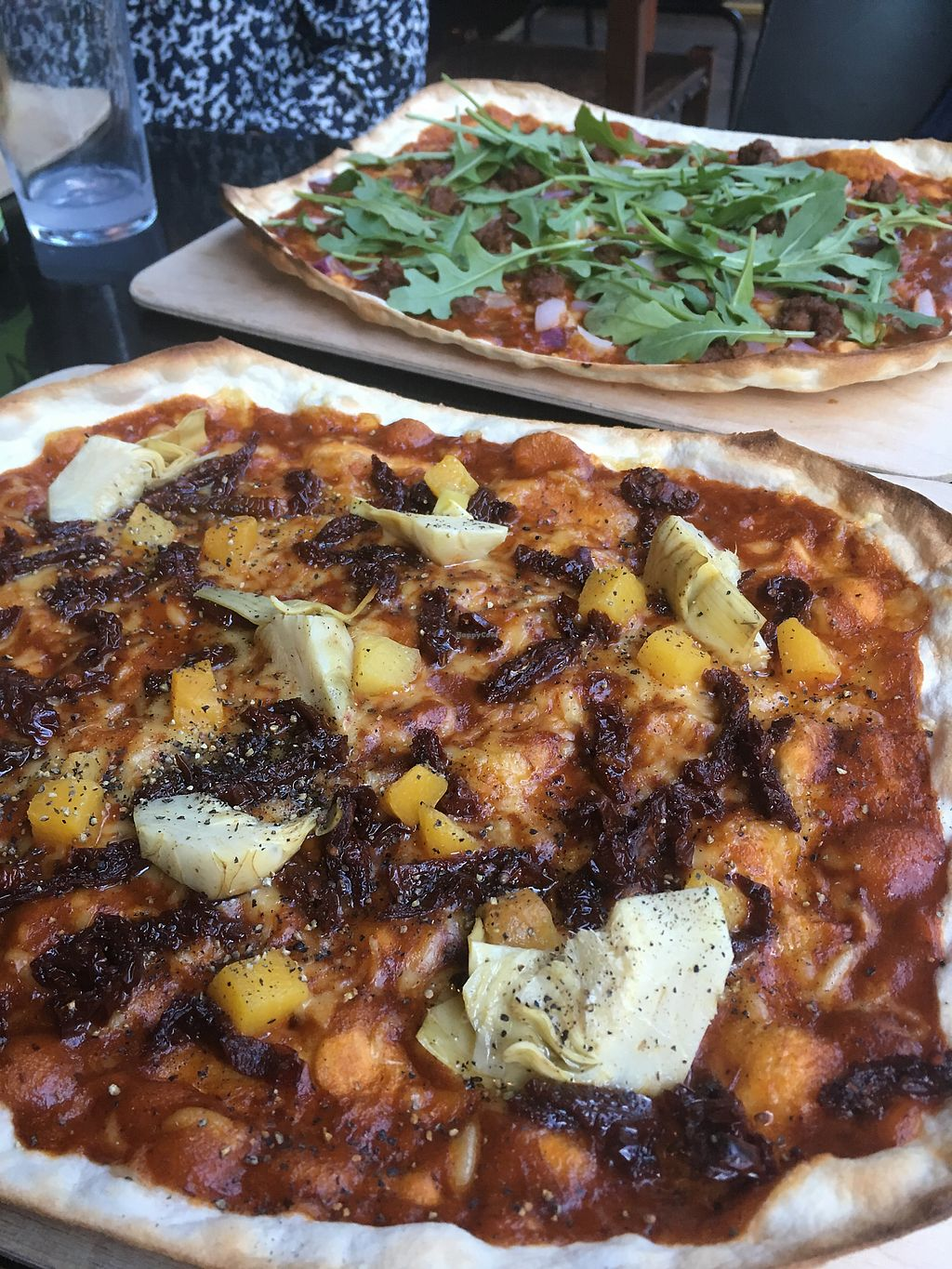 """Photo of Iggys' Bar & Food Joint  by <a href=""""/members/profile/Pitaya"""">Pitaya</a> <br/>Vegan flamebreads <br/> August 20, 2017  - <a href='/contact/abuse/image/92079/294823'>Report</a>"""