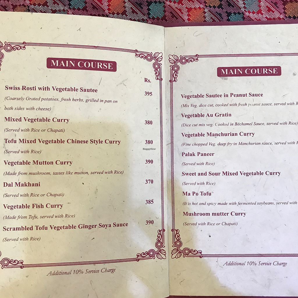 """Photo of Rabsel Garden Cafe at Shechen Monastery  by <a href=""""/members/profile/earthville"""">earthville</a> <br/>menu page 3-4 <br/> May 13, 2017  - <a href='/contact/abuse/image/92083/258346'>Report</a>"""