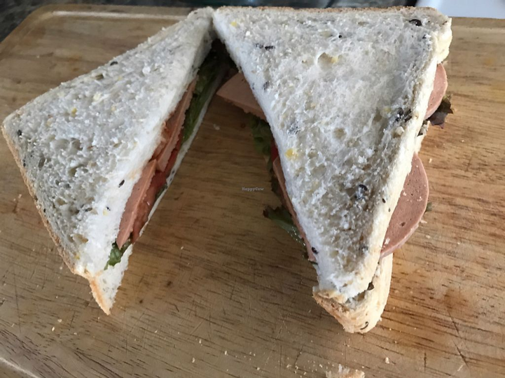 """Photo of La Wheat Bakery  by <a href=""""/members/profile/JonnyHicks"""">JonnyHicks</a> <br/>sandwich with la wheat bread and vegan slicing ham and salad from the fresh choice supermarket  <br/> May 19, 2017  - <a href='/contact/abuse/image/92092/260207'>Report</a>"""